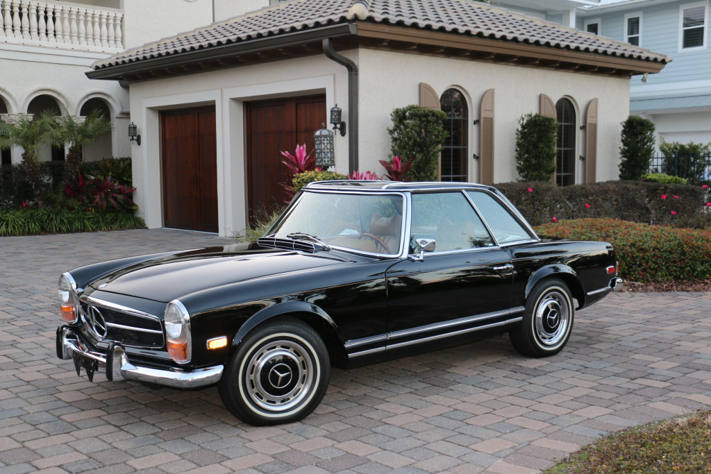 1970 mercedes benz 280 sl twin 1 hollywood wheels for Mercedes benz auction