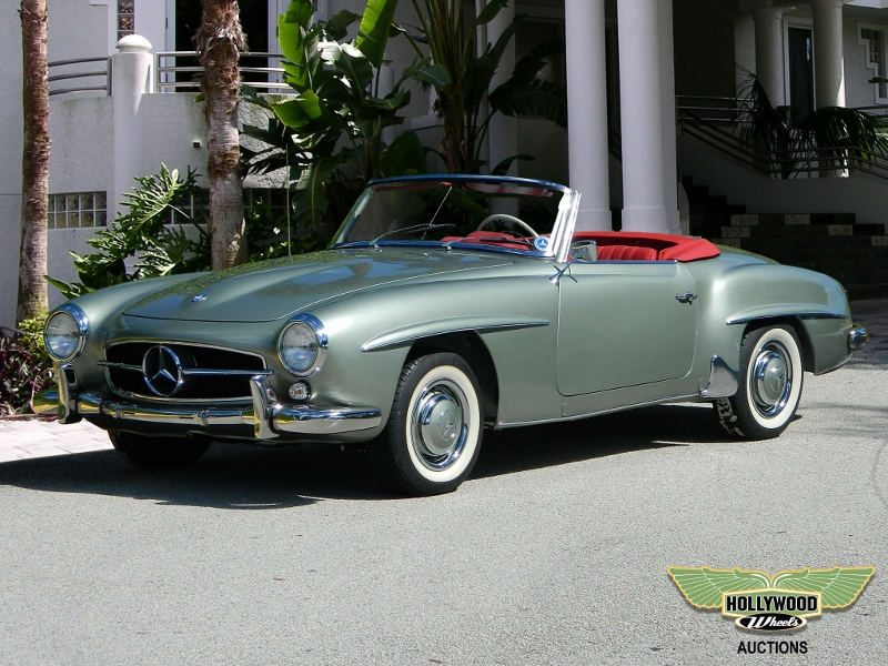 1960 mercedes benz 190 sl hollywood wheels auction shows for Mercedes benz hollywood