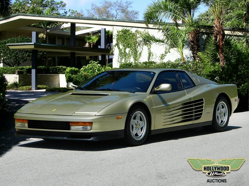 1988 Ferrari Testarossa Hollywood Wheels Auction Shows