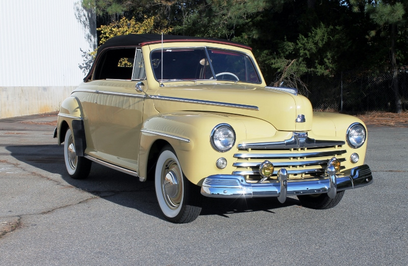 1948 Ford Super Deluxe Convertible Hollywood Wheels