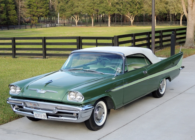 1958 Desoto Firedome Convertible Hollywood Wheels