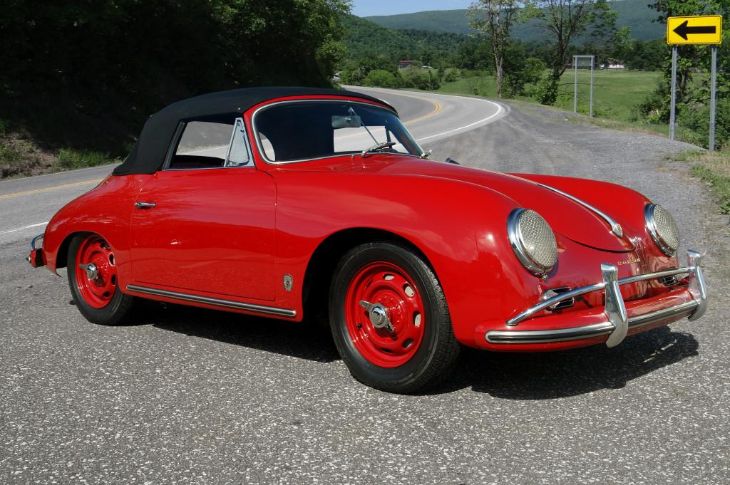 1958 Porsche 356a Cabriolet Original Rudge Wheels Hollywood Wheels Auction Shows