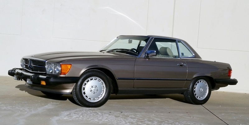 1989 mercedes benz 560 sl roadster hollywood wheels for Mercedes benz hollywood