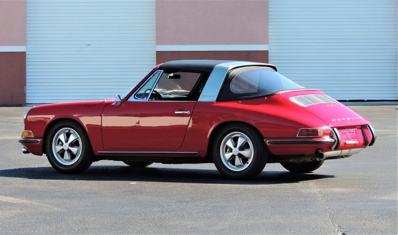 1967 Porsche 911 S Soft Window Targa Hollywood Wheels