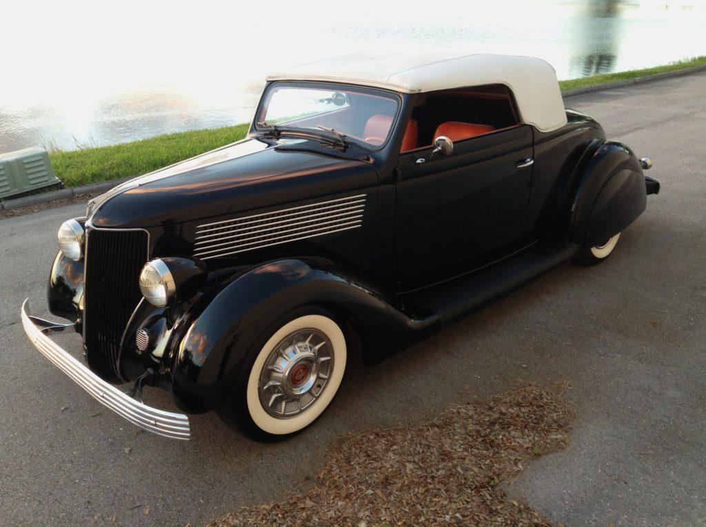 1936 Ford Carson Top Vintage Street Rod Hollywood Wheels