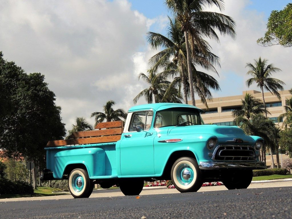 1957 Chevy 3200 Pickup Truck Hollywood Wheels Auction Shows 4 Door Previous Next
