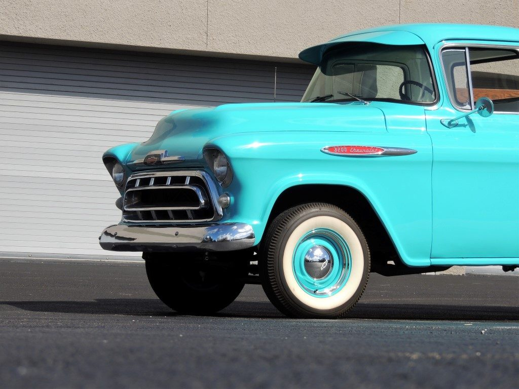 1957 Chevy 3200 Pickup Truck Hollywood Wheels Auction Shows Panel Van Previous Next
